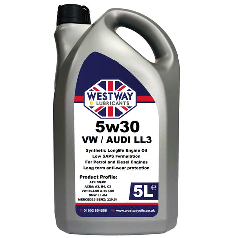 5w30 Fully Synthetic VW 504 / 507 C3 Low SAPS Engine Oil