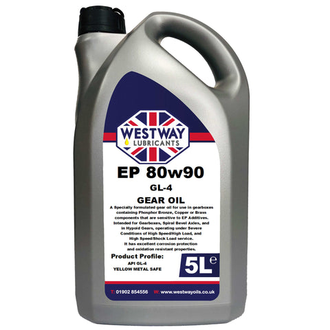 80w90 Gear Oil Mineral GL-4 Yellow Metal Safe