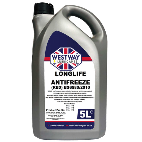 Antifreeze Longlife Red Concentrate BS6580:2010