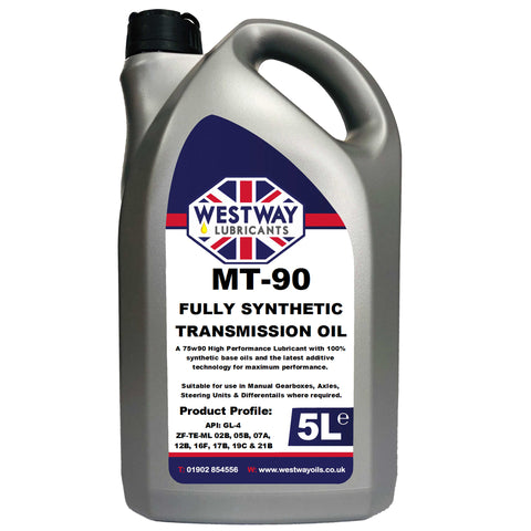 MT90 MT-90 5L Fully Synthetic Differential / Gear Oil 5 Litres GL-4