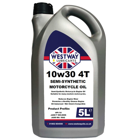 10w30 4T Semi-Synthetic Motorcycle Oil