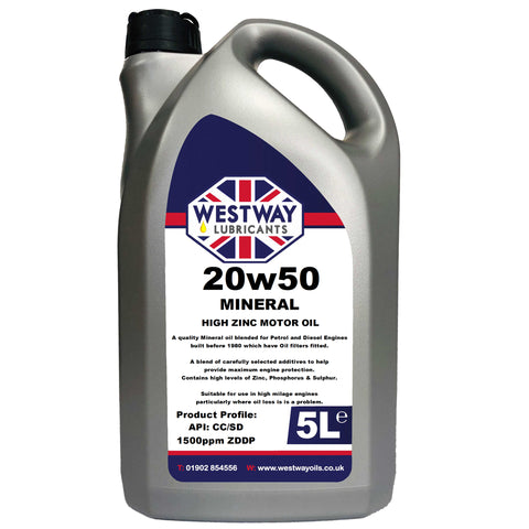 20w50 Mineral Classic Motor Oil High ZDDP