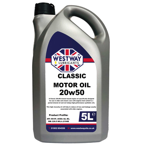 20w50 Mineral Classic Motor Oil