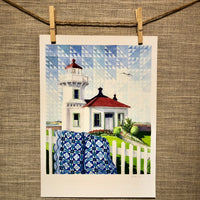 Mukilteo Lighthouse |  Washington State - Watercolor Prints