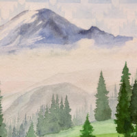 Mount Rainier  |  Washington State - Watercolor Prints