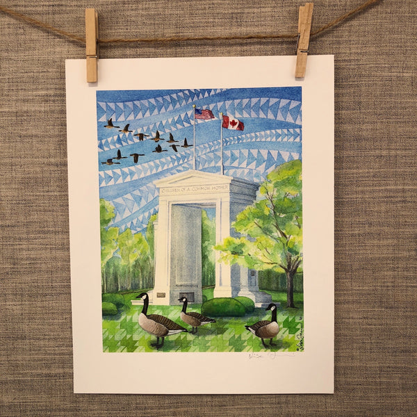 Peace Arch | Blaine, WA - Watercolor Prints