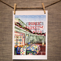 At the Market | Seattle - Watercolor Prints