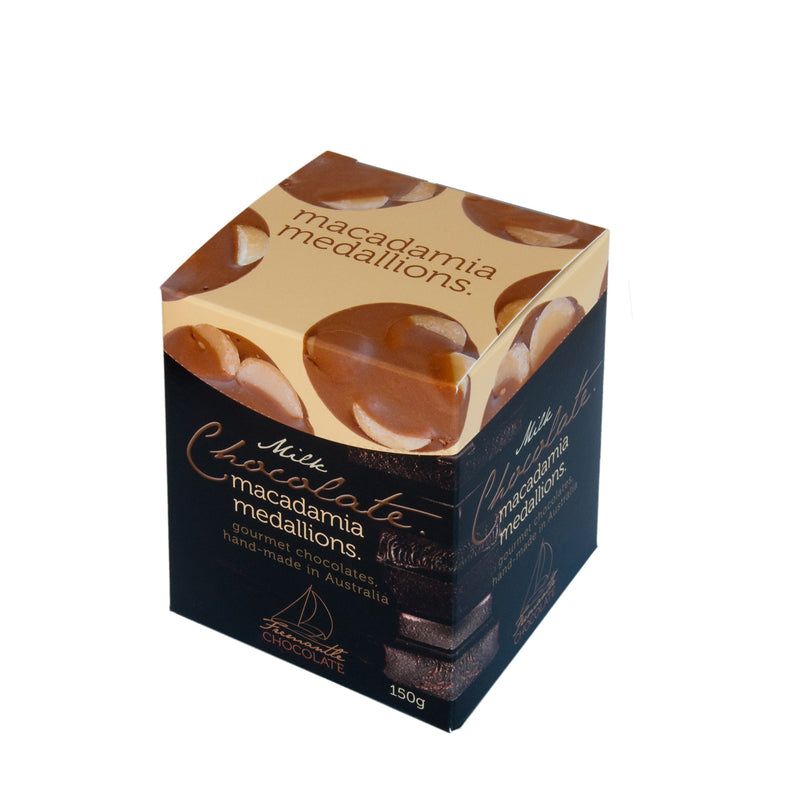 Milk Chocolate Macadamia Medallions 150g Box
