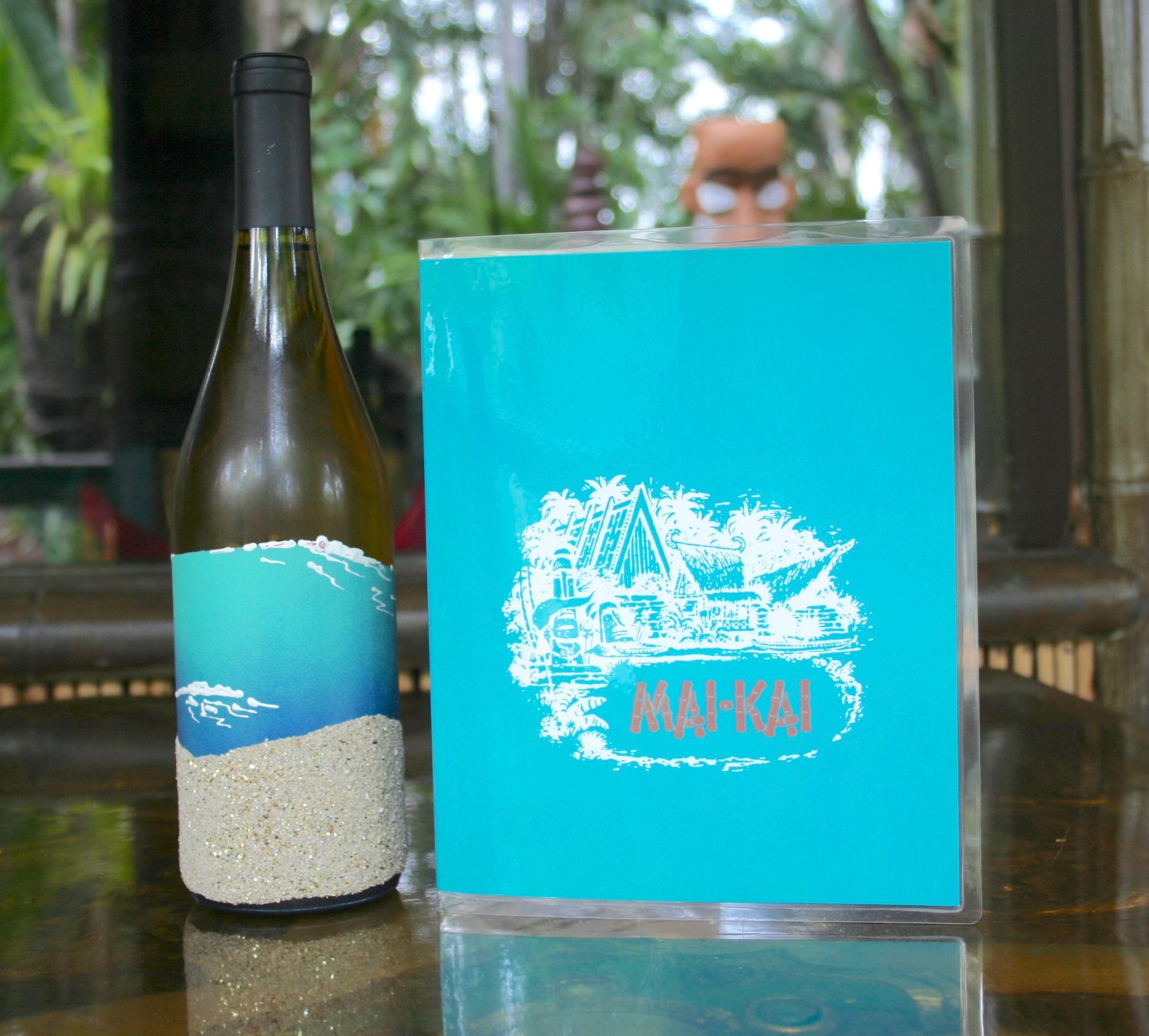 Front page view of Mai-Kai dessert menu