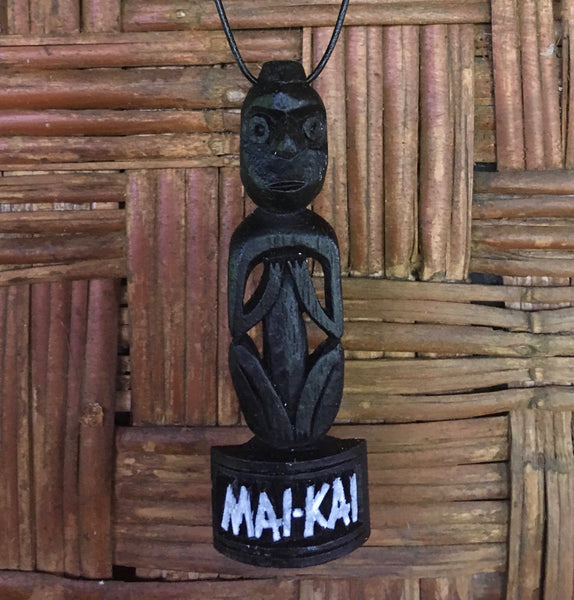 Black and white Birdman Tiki Pendant Necklace for Mai-Kai