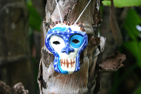 Mai-Kai Shrunken Skull Mug Ceramic  Necklace