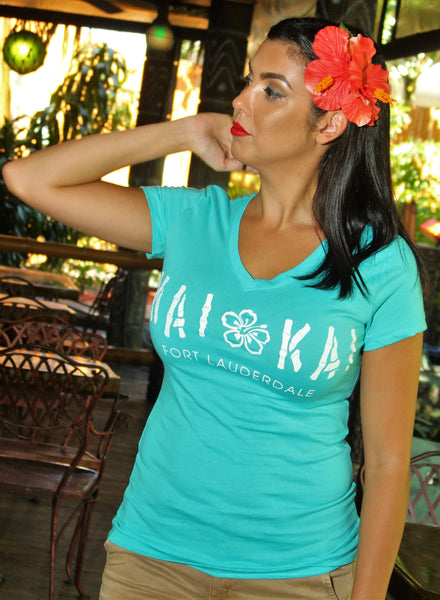 Mai-Kai Ladies V-Neck Tee Shirt