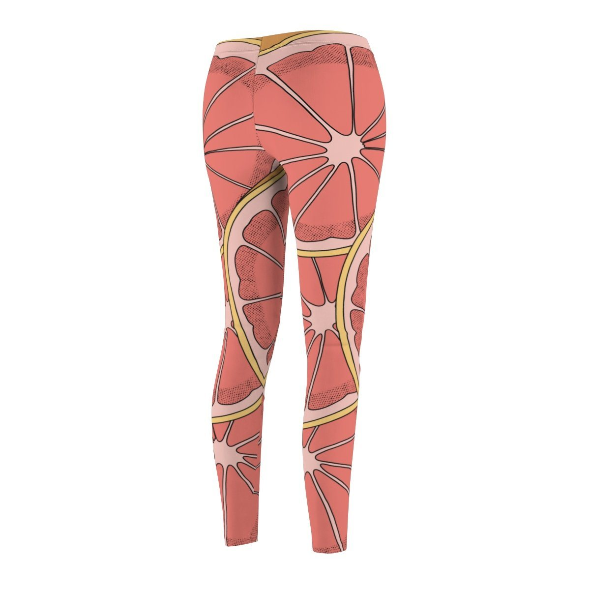 1 grapefruit printing Women's Cut & Sew Casual Leggings