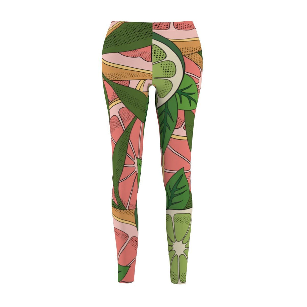 1 lime Women's Cut & Sew Casual Leggings