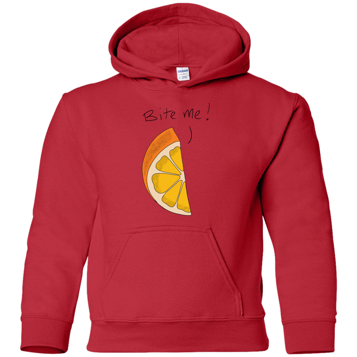 Bite me! Youth Pullover Hoodie