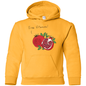 Free Vitamins!  Youth Pullover Hoodie