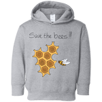Save the Bees! Toddler Fleece Hoodie