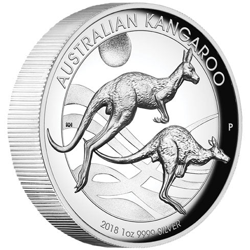 2018 $1 Kangaroo High Relief 1oz Silver Proof Coin