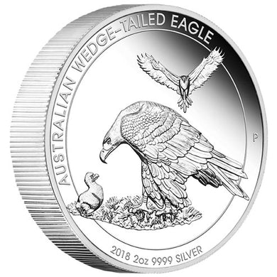 2018 $2 Wedge-Tailed Eagle 2oz Silver Piedfort Proof