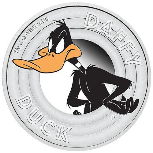 2018 Tuvalu 50c Daffy Duck 1/2oz Silver Proof Coin
