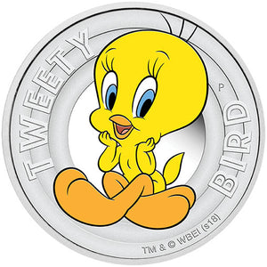 2018 Tuvalu 50c Tweety-Bird 1/2oz Silver Proof Coin