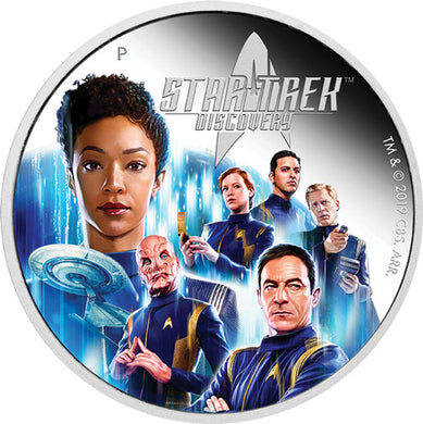 2019 Tuvalu $2 Star Trek: Discovery Crew 2oz Silver Proof Coin