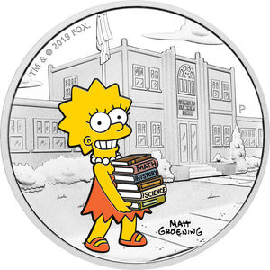 2019 Tuvalu $1 The Simpsons - Lisa 1oz Silver Proof Coin