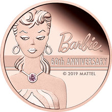 2019 Tuvalu $200 Barbie 60th Anniversary 2oz Rose Gold Proof Coin