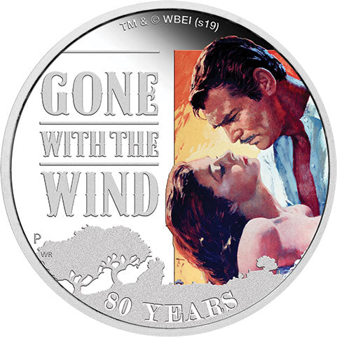 2019 Tuvalu $1 Gone with the Wind 1oz Silver Proof Coin
