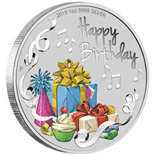2019 $1 Happy Birthday 1oz Silver Coin