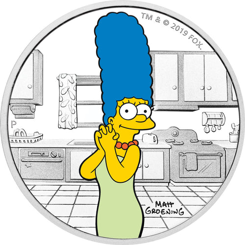 2019 Tuvalu $1 The Simpsons – Marge 1oz Silver Proof Coin