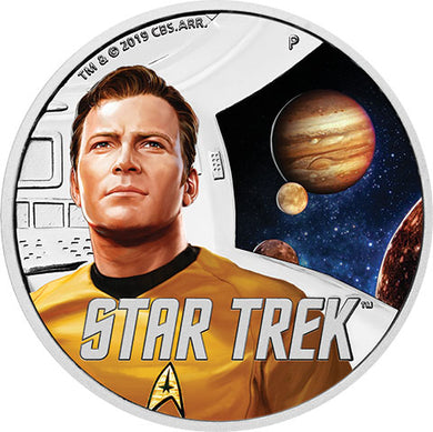 2019 Tuvalu $1 Star Trek: The Original Series – Kirk 1oz Silver Proof Coin