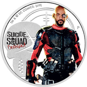 2019 Tuvalu $1 Suicide Squad - Deadshot 1oz Silver Proof Coin