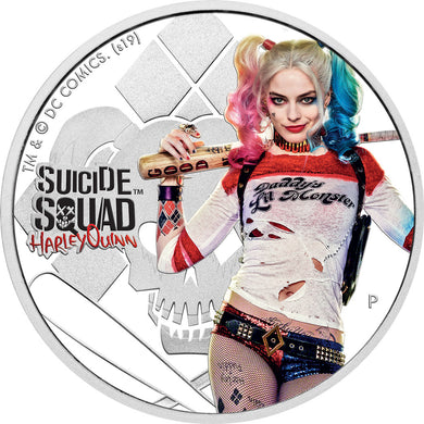 2019 Tuvalu $1 Suicide Squad - Harley Quinn 1oz Silver Proof Coin