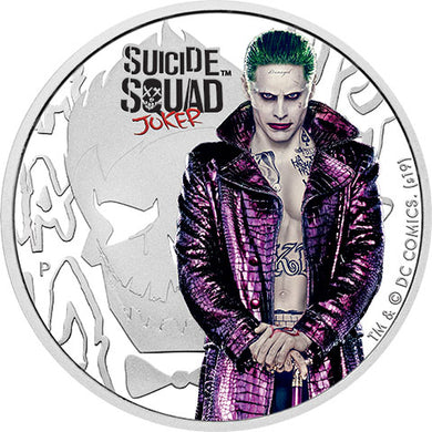 2019 Tuvalu $1 Suicide Squad - Joker 2019 1oz Silver Proof Coin