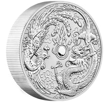 2019 $10 Dragon & Phoenix 10oz Silver Coin