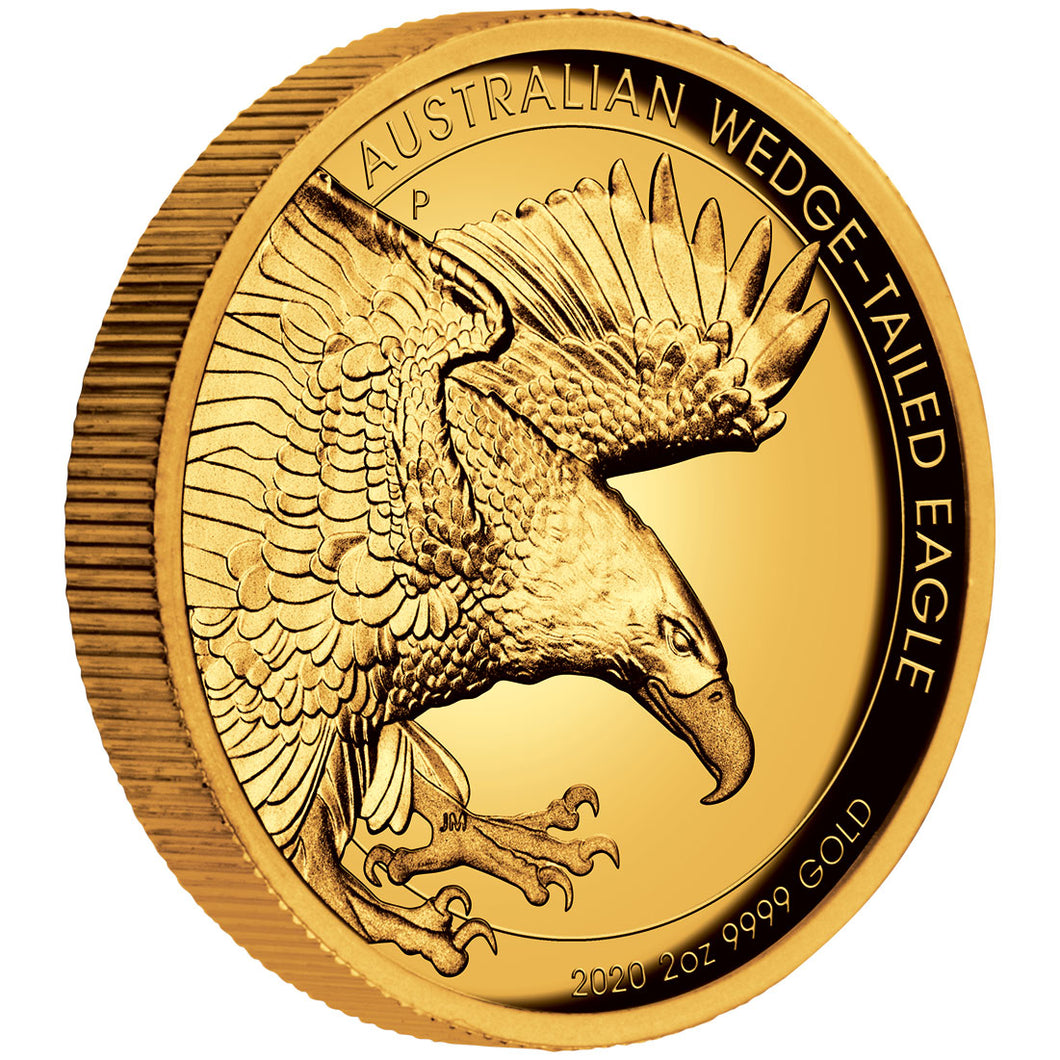 2020 $200 Wedge-Tailed Eagle High Relief 2oz Gold Proof Coin