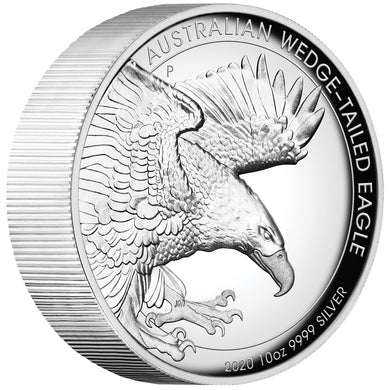 2020 $10 Wedge-Tailed Eagle High Relief 10oz Silver Proof Coin