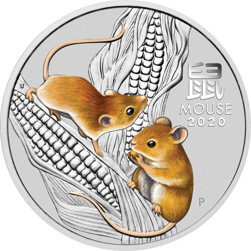 2020 25c Sydney ANDA Year of the Mouse 1/4oz Silver BU