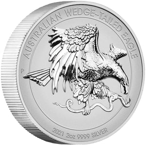2021 $2 Wedge-Tailed Eagle UHR 2oz Silver Reverse Proof