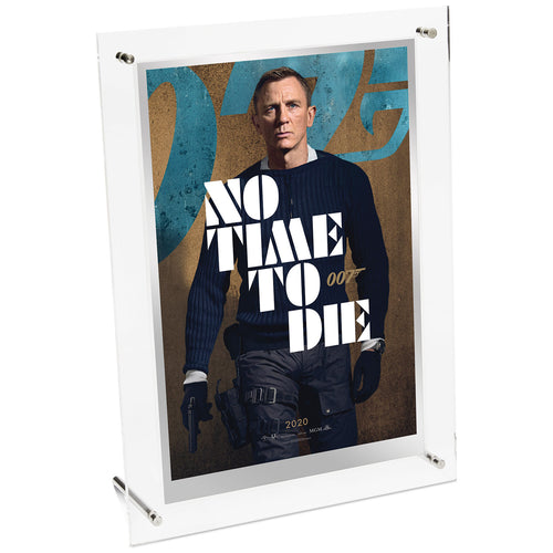 James Bond No Time To Die Movie Poster 35g Silver Foil