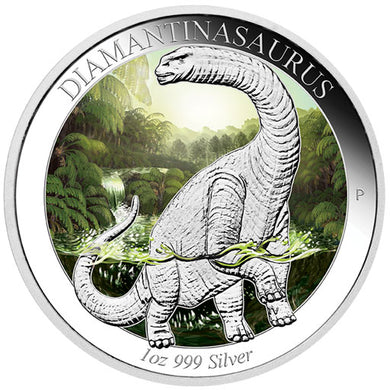 2015 $1 Diamantinasaurus 1oz Silver Proof