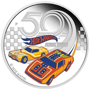 2018 Tuvalu $1 50 Years of Hot Wheels 1oz Silver Proof Coin