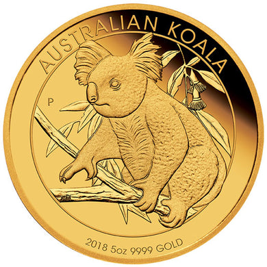 2018 $500 Koala 5oz Gold Proof