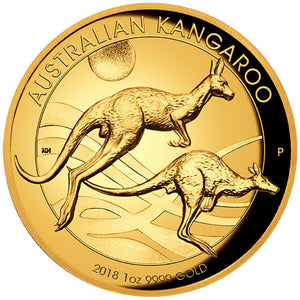 2018 $100 Kangaroo High Relief 1oz Gold Proof Coin