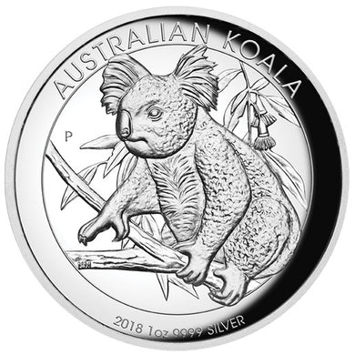 2018 $1 Koala High Relief 1oz Silver Proof