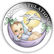 2018 50c Newborn Baby 1/2oz Silver Proof Coin