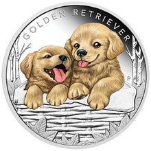 2018 Tuvalu 50c Puppies – Golden Retriever 1/2oz Silver Proof Coin