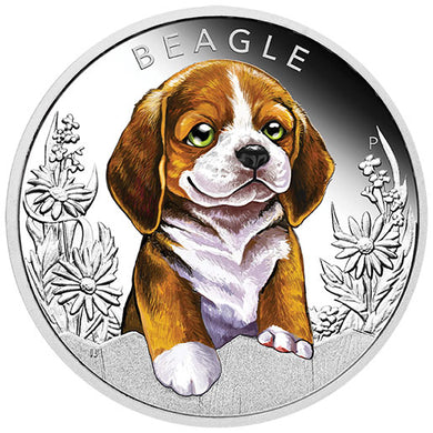 2018 Tuvalu 50c Puppies – Beagle 1/2oz Silver Proof Coin