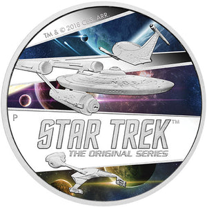 2018 Tuvalu $2 Star Trek: The Original Series – Ships 2oz Silver Proof Coin